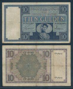 Nederland 1924 10 Gulden Zeeuws meisje bankbiljet Fraai