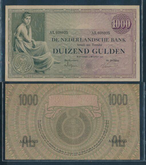 Nederland 1926 1000 Gulden Grietje Seel bankbiljet Pracht 1