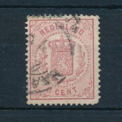 Nederland 1869 Wapenzegel 1,5 cent roze NVPH 16 Gestempeld