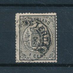Nederland 1869 Wapenzegel 1 cent zwart NVPH 14 Gestempeld