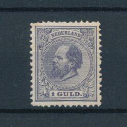 Nederland 1872 Koning Willem III 1 Gulden grijs violet NVPH 28 Ongebruikt