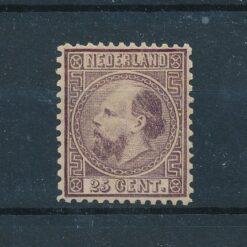 Nederland 1867 Koning Willem III 25 cent donkerviolet NVPH 11 Ongebruikt