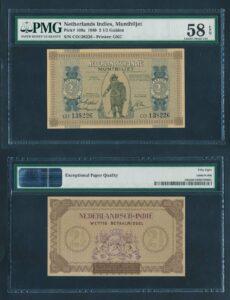 Nederland Indie 1940 2,5 Gulden vrijwel UNC - Graded PMG 58 EPQ