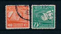 Nederland 1928 Koppen en Van der Hoop NVPH LP4-LP5 Gestempeld