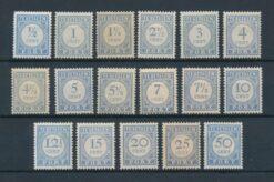 Nederland 1912-1920 Complete serie portzegels NVPH P44-P60 Ongebruikt