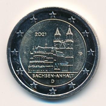 Duitsland 2021 2 Euro F Sachsen-Anhalt