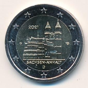 Duitsland 2021 2 Euro G Sachsen-Anhalt