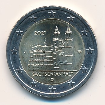Duitsland 2021 2 Euro J Sachsen-Anhalt