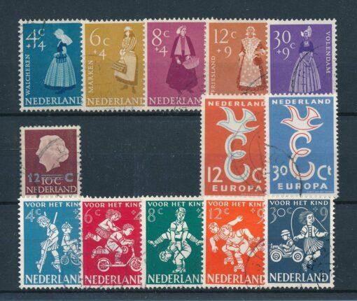 Nederland 1958 Complete jaargang Gestempeld 1