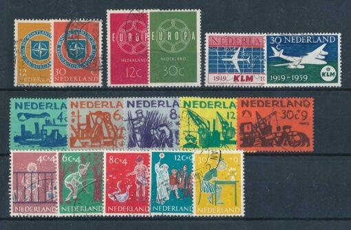 Nederland 1959 Complete jaargang Gestempeld 1