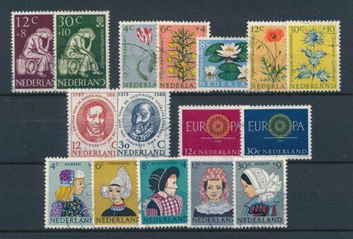 Nederland 1960 Complete jaargang Gestempeld 1