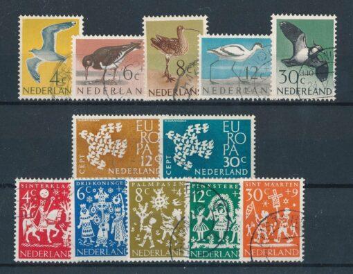 Nederland 1961 Complete jaargang Gestempeld 1
