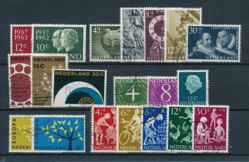 Nederland 1962 Complete jaargang Gestempeld 1