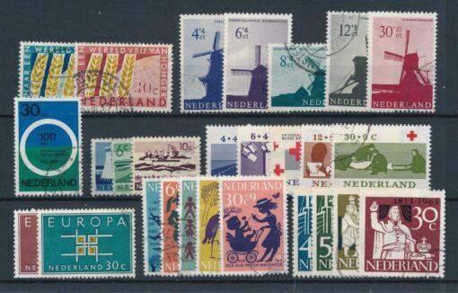 Nederland 1963 Complete jaargang Gestempeld 1